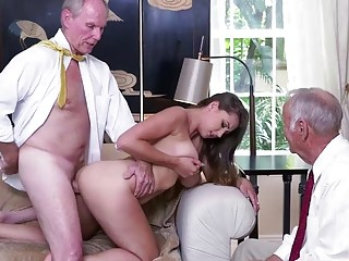 Busty college babe Ivy Rose strips and got fucked
