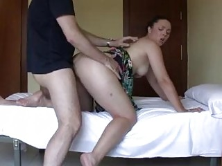 Old amateur couple is making a hot Latina porn movie