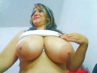 Chunky Colombian MILF teases with big tits and ass solo