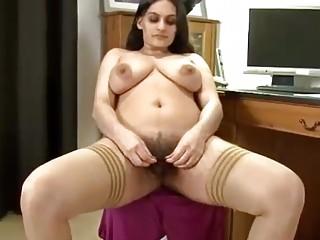 Hairy Pakistani chick pleasuring her beautiful pussy
