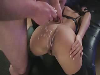 Cumming on her tight Serbian ass after fucking