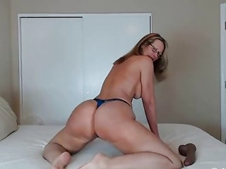 Bug ass blonde milf riding in a cowgirl