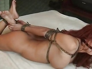 Big tits redhead is bounded nicely