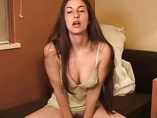 Kinky bukkake chick wishes she could give you a handjob