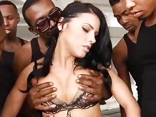 Stunning chicks get fucked and love having a big creampie