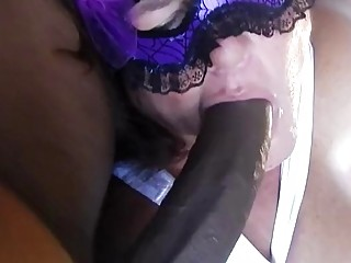Crazy milf gets fucked really hard in a cuckold threesome