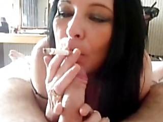 Dirty cigar smoking mom has fetish hardcore sex in POV