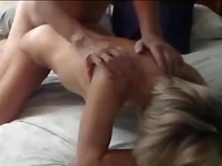 Hardcore amateur blonde gets cum on face