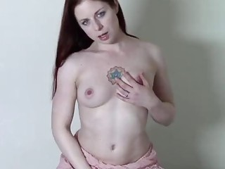 Solo tattooed role-playing with a passionate redhead