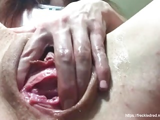 Amazing pussy fisting with a gorgeous brunette