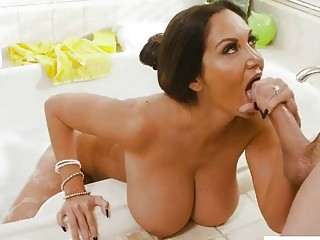 Bareback ramming a busty beautiful mommy
