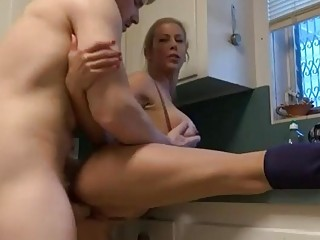 Busty mommy seduced her son like a slut