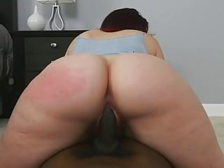 Big ass slut Virgo Peridot jumps on fat black dong