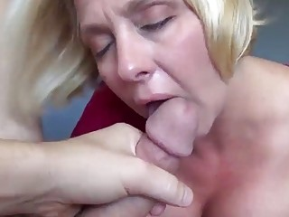 Blonde mommy is a great cock pleaser