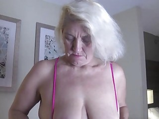 Slutty granny enjoys young meat