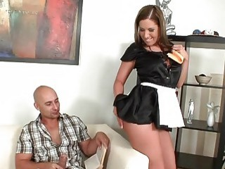 Maid with a great ass loves to get drilled