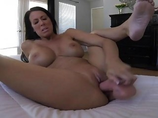 Hot MILF talks dirt and plays with a dildo
