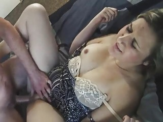Kinky mom gets her hairy pussy slammed by her man