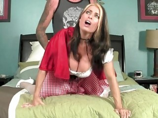 Red riding hood gets nailed by her lover's cock