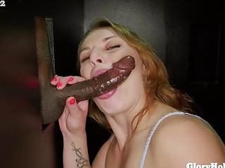 Filthy girl loves a big cock and adores cuckold fetish