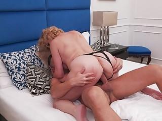 Chubby mature naughty loves sucking dicks and nasty anal fuck