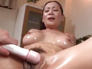 Asian babe loves masturbation and getting cum on her mouth