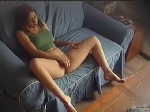 Horny Ebony Rubs Her Pussy